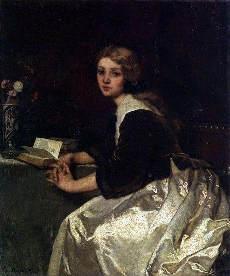 Alfred Stevens  Belgian Artist  1823 - 1906