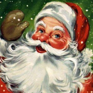 Image detail for -... com: KRW Vintage Santa Claus Christmas Sticker: Arts, Crafts & Sewing