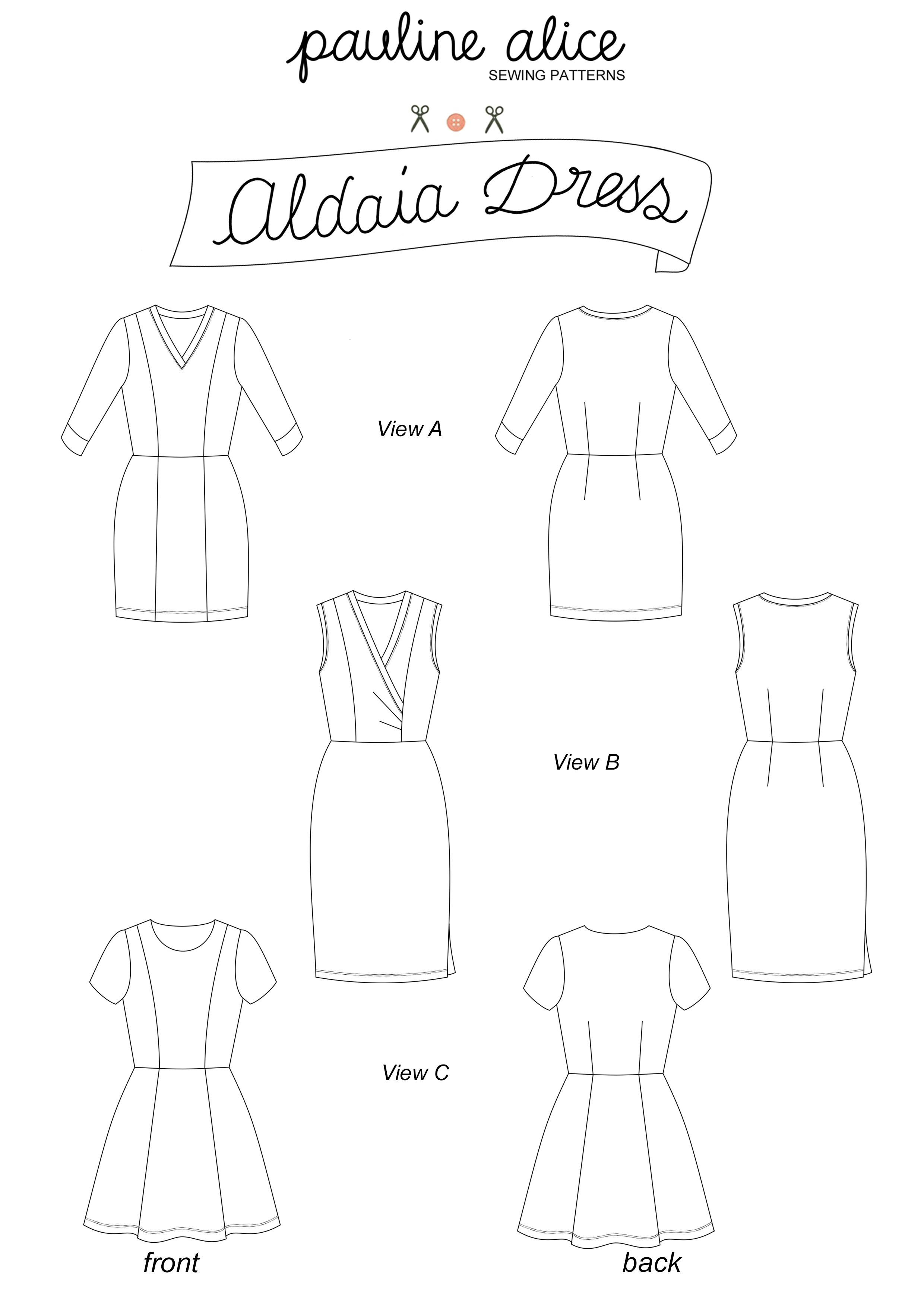 The Aldaia dress is designed for knit fabrics, with no closure so it ...
