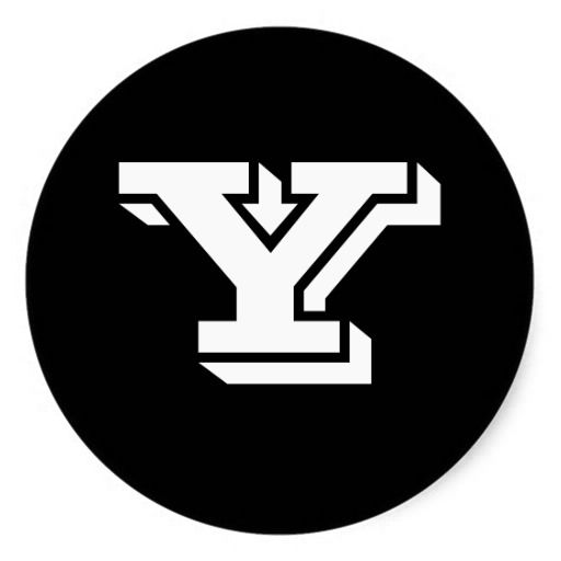 Capital letter y large round stickers by janz