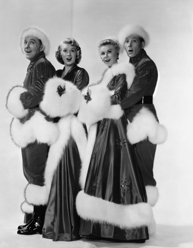 bing crosby rosemary clooney vera ellen and danny kaye white christmas - Black And White Christmas Movie