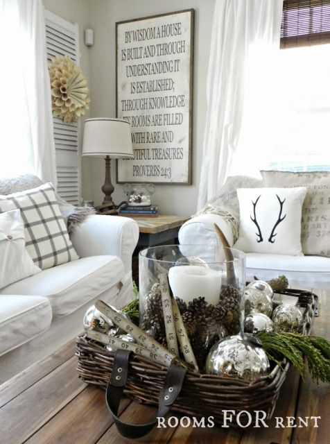 Winter Decor Ideas for the Home | Christmas home, Home decor ...