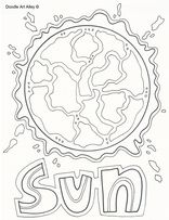 sun colouring page Space Our Solar System Pinterest