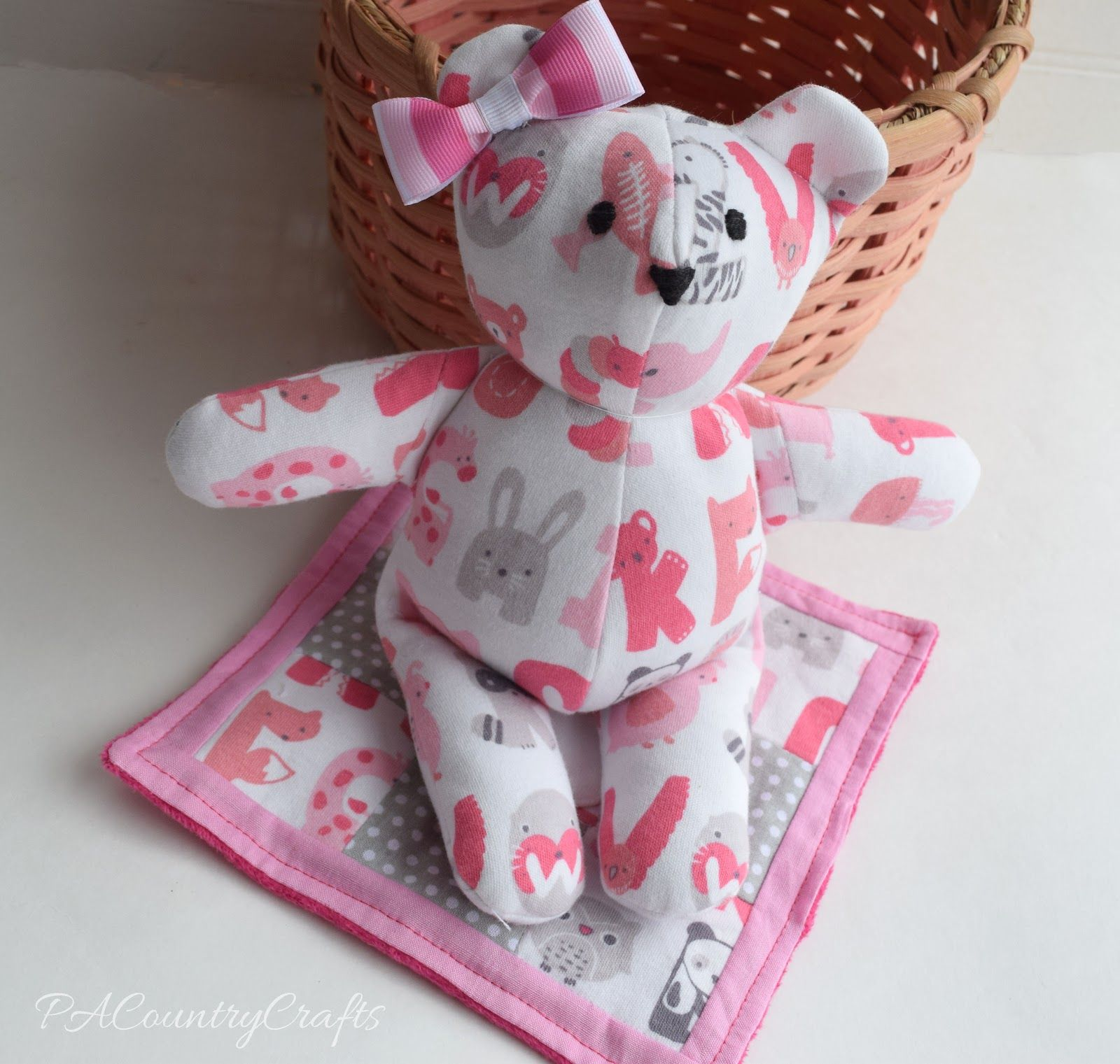 Pacountrycrafts Baby Clothes Memory Bear Pattern And Tutorial