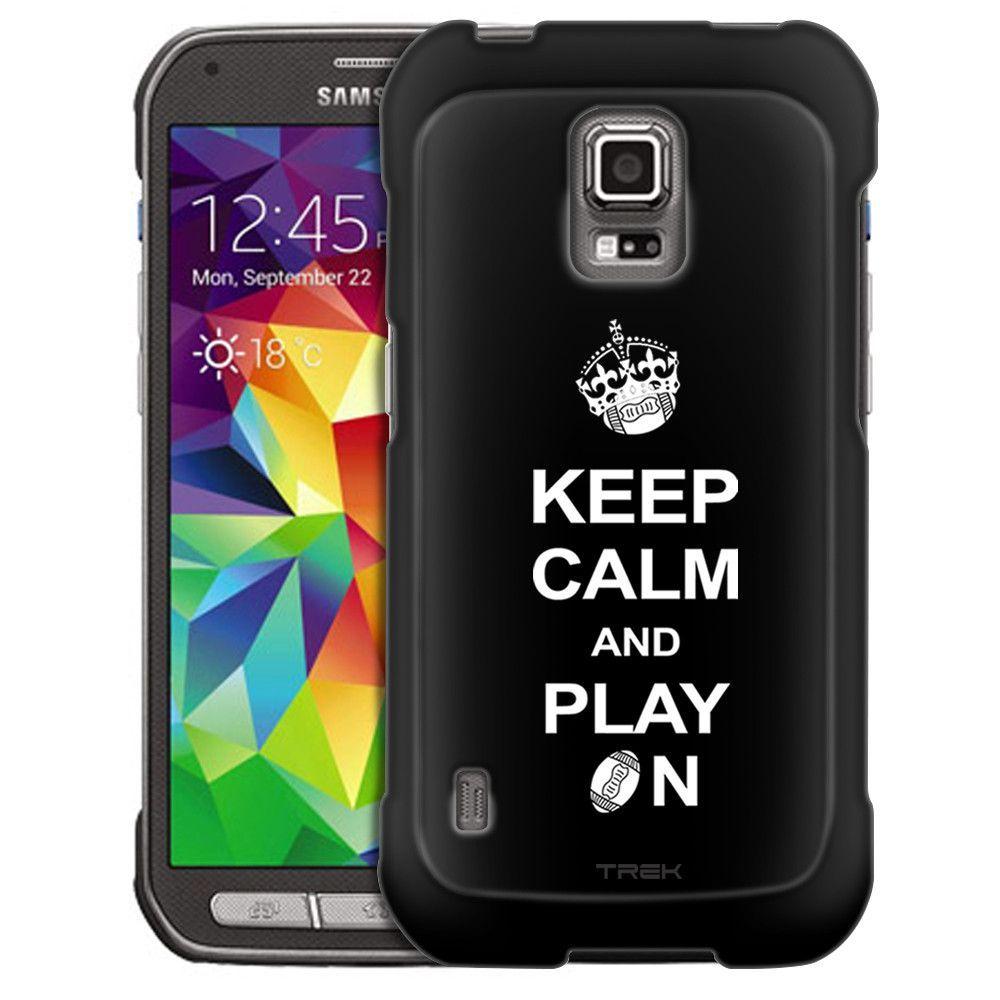 Samsung Galaxy S5 Active KEEP CALM And Play On - Football on Black Slim Case