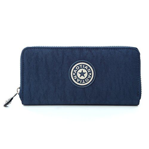 liangdongshop Ladies Girls Nylon Multipurpose Long Wallet Card Holder Phone Handbag Coin PurseDark Blue -- Click image for more details.