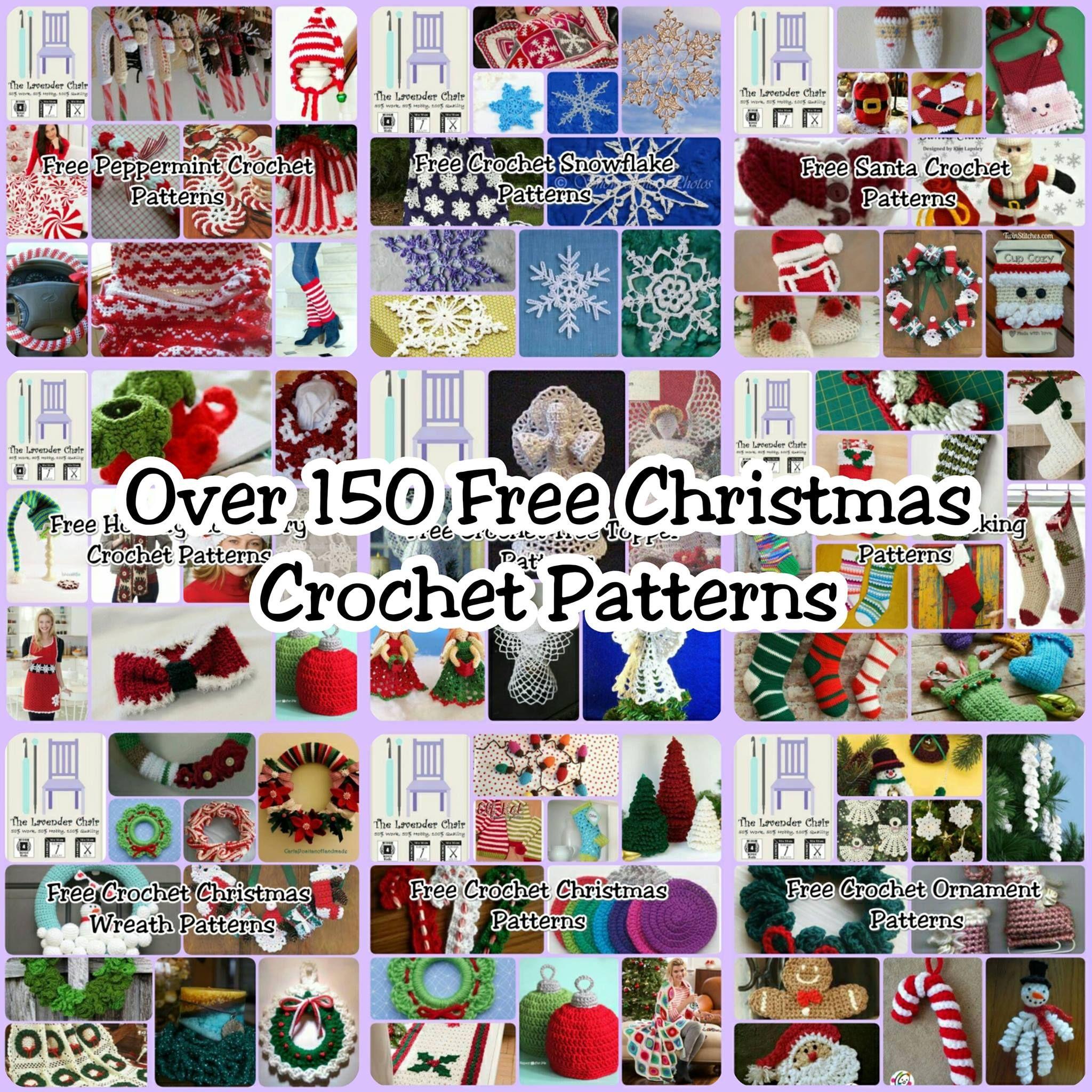 150+ FREE Christmas Crochet Patterns | Adornos navidad, Adornos de ...