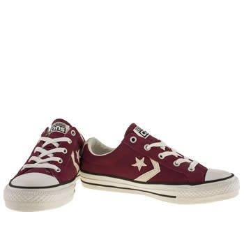 944b23343f9 womens converse burgundy star player ox suede ii trainers