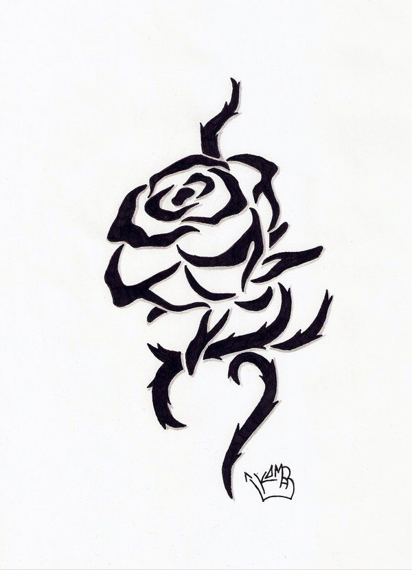 Tribal Rose Tribal Rose Tattoos Black Rose Tattoos Flower Tattoo Designs