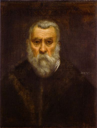 """Tintoretto.   """"Autorretrato"""". 1588.   Museo del Louvre"""