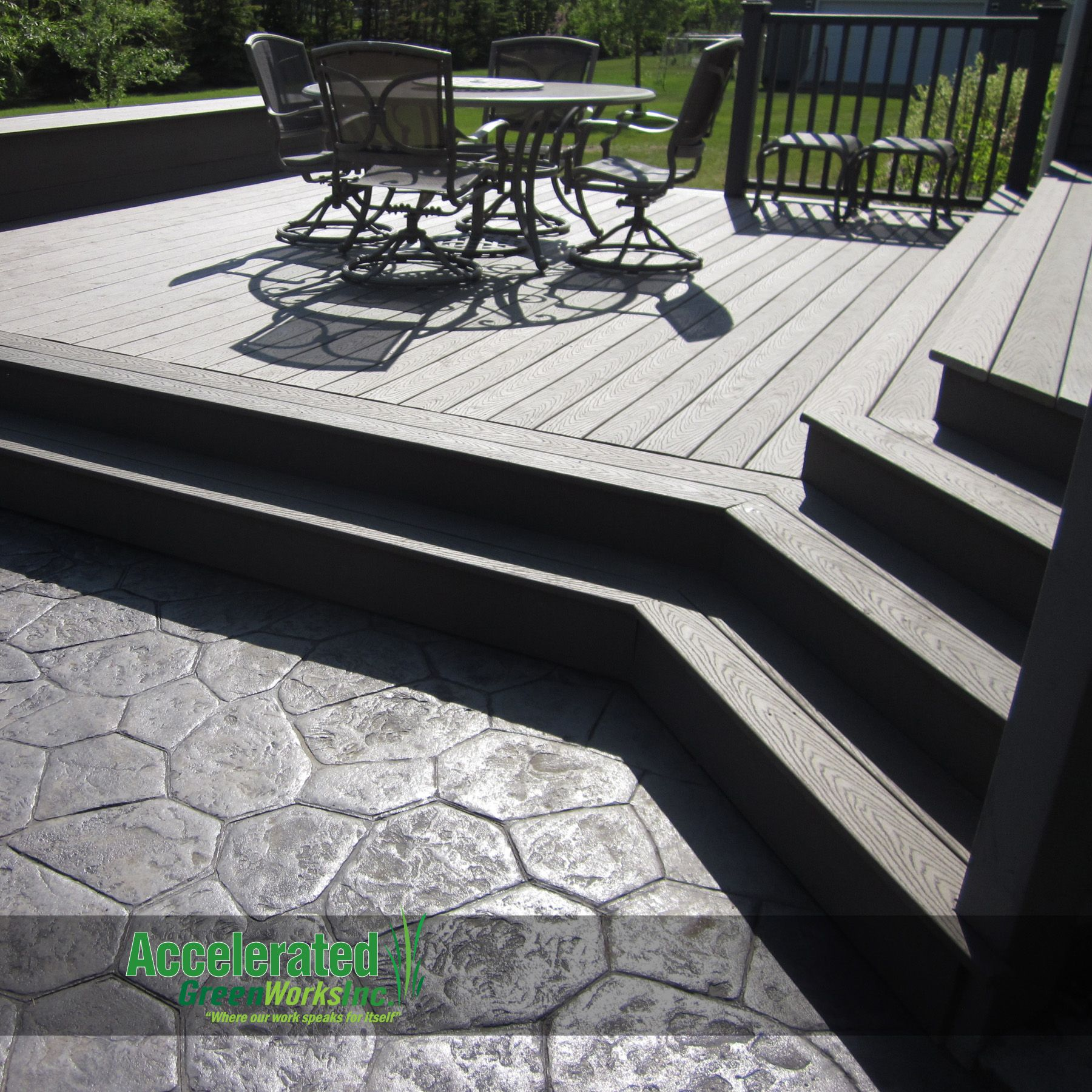 This Was A Maintenance-free Addition To An Existing Deck