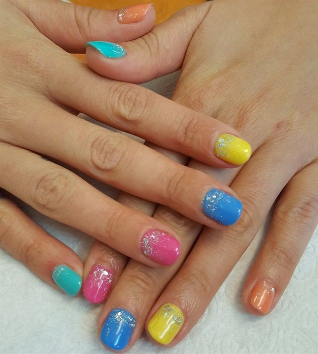 Day 62: Multicolor Glitter Nail Art - Day 62: Multicolor Glitter Nail Art Pinterest Glitter Nails