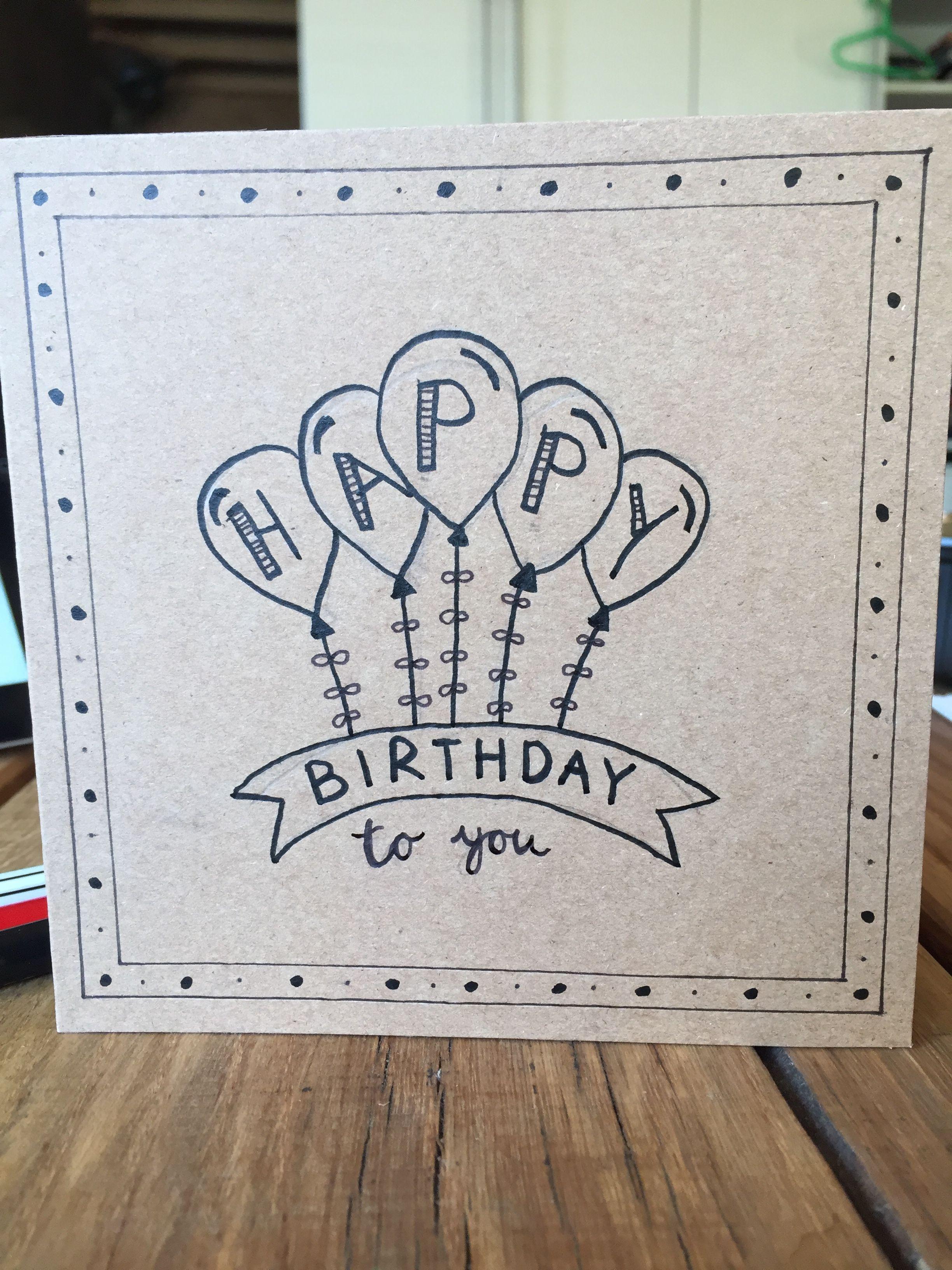 Handlettering Verjaardagskaart Happy Birthday Kaart