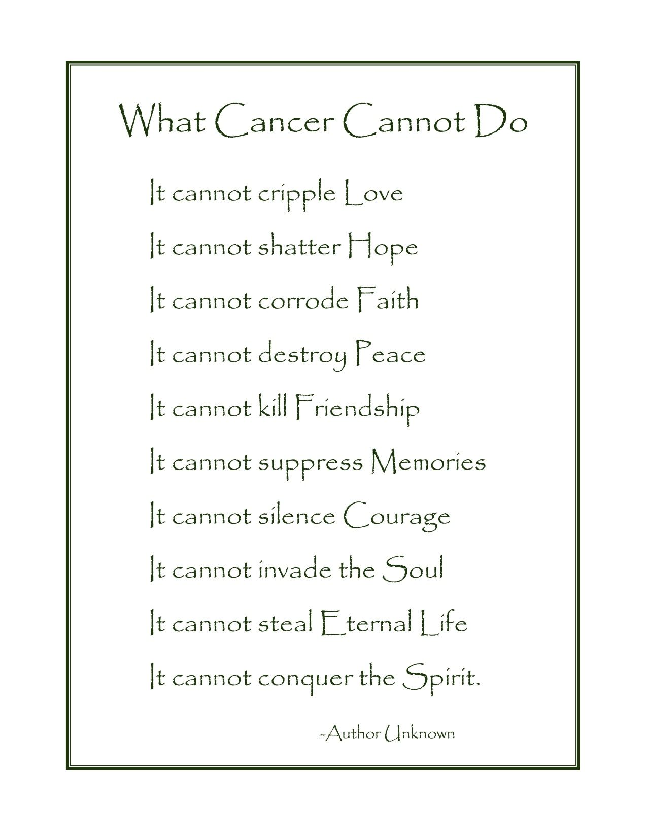 What Cancer Cannot Do Every Single Day I Miss My Daddy Quotes And
