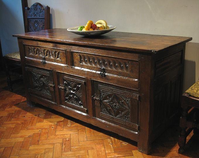 Charming Tudor Style Oak Cupboard | Tudor Oak Furniture | Early Tudor