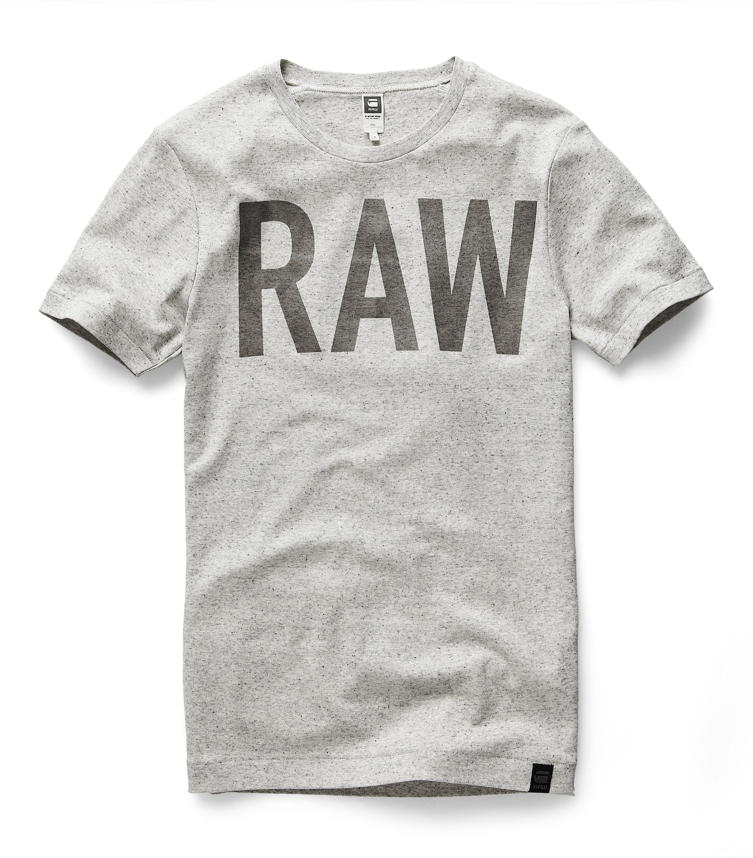 Round Neck Tee With A Semi-transparent Graphic Logo. The
