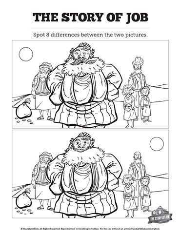 The Story of Job Kids Spot The Difference: Your kids will