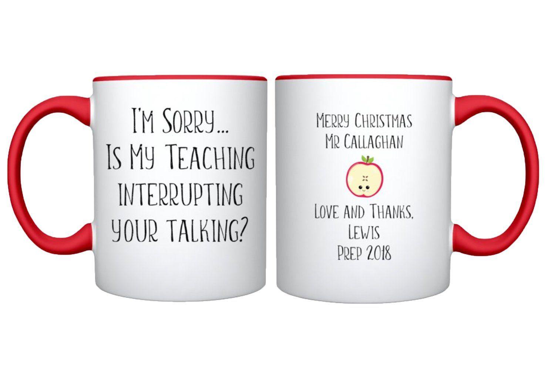 Funny Teacher Mug Personalised Teacher Gift Teacher Thank You