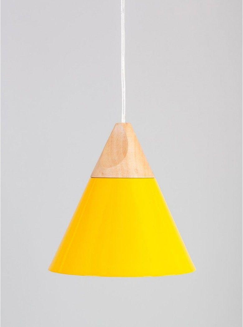 Smeupi yellow triangle pendant light Dining room lights