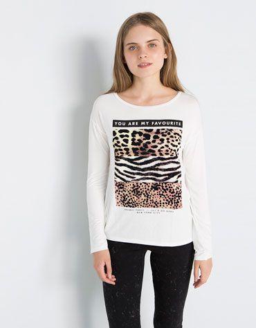 a70f26f7 Bershka United Kingdom - Girl - SALE - T-shirts   Camisetinhas ...