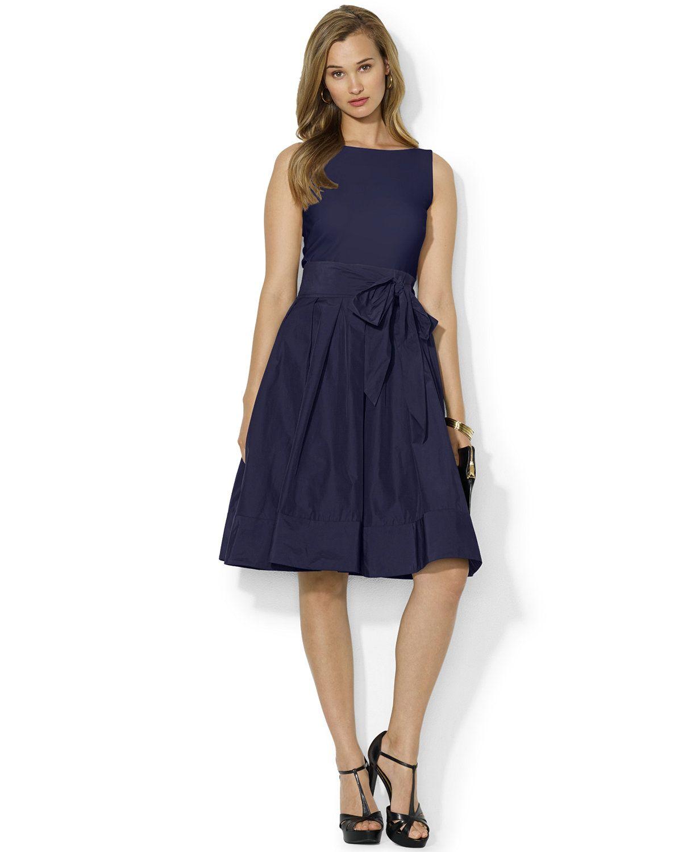 Lauren Ralph Lauren Pleated Cocktail Dress | macys.com | Cocktail ...