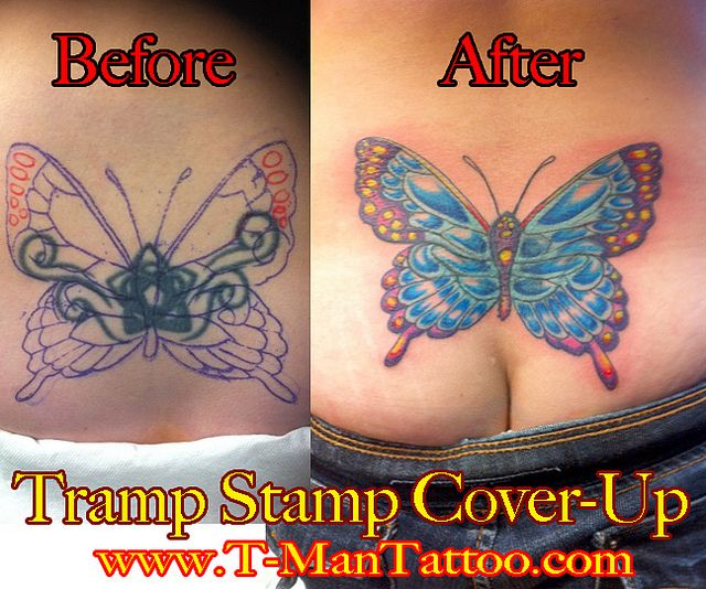 Tramp Stamp Cover Up By T Man Tattoo Studio City Via Flickr