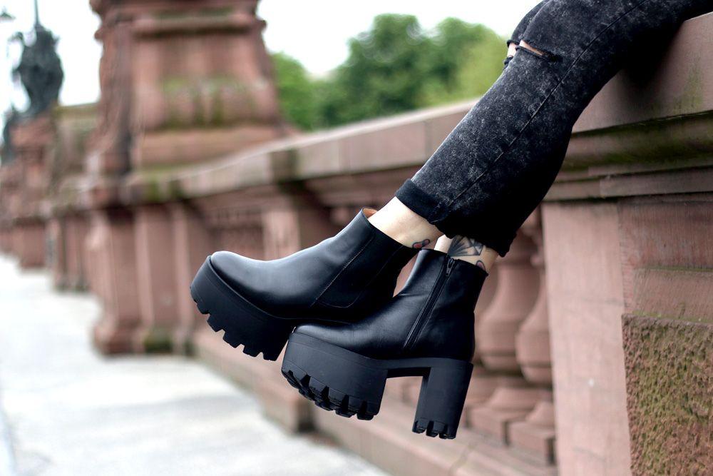 Grunge Grunge Black Neo BootsFashionShoes Neo Black Black Schuhe Schuhe BootsFashionShoes BdCxero