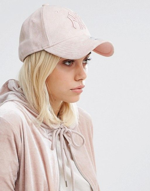 d1f4009d3e2 New Era Suede 9 Forty Cap in Blush Pink