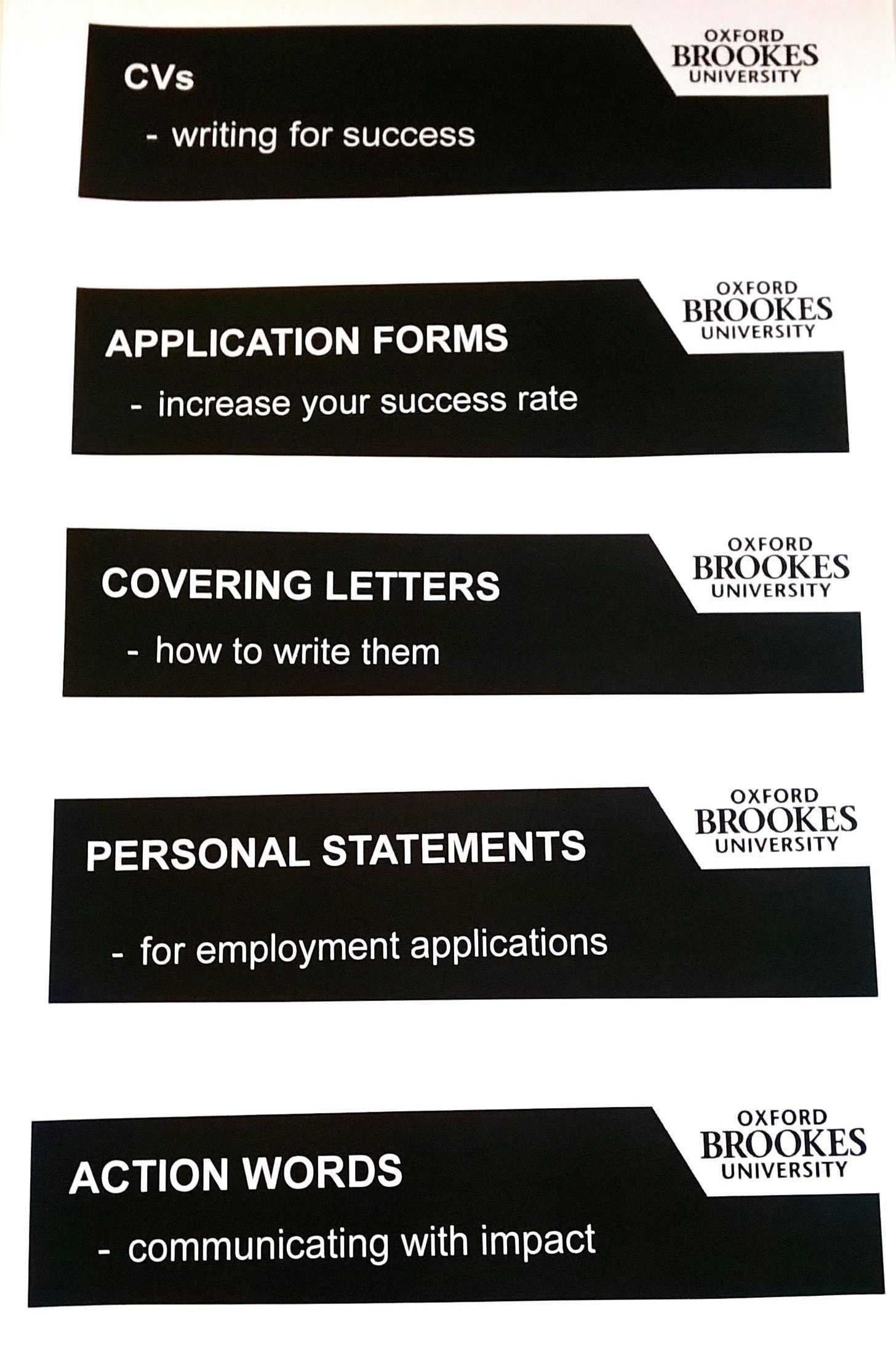 All you need to write a great job application.