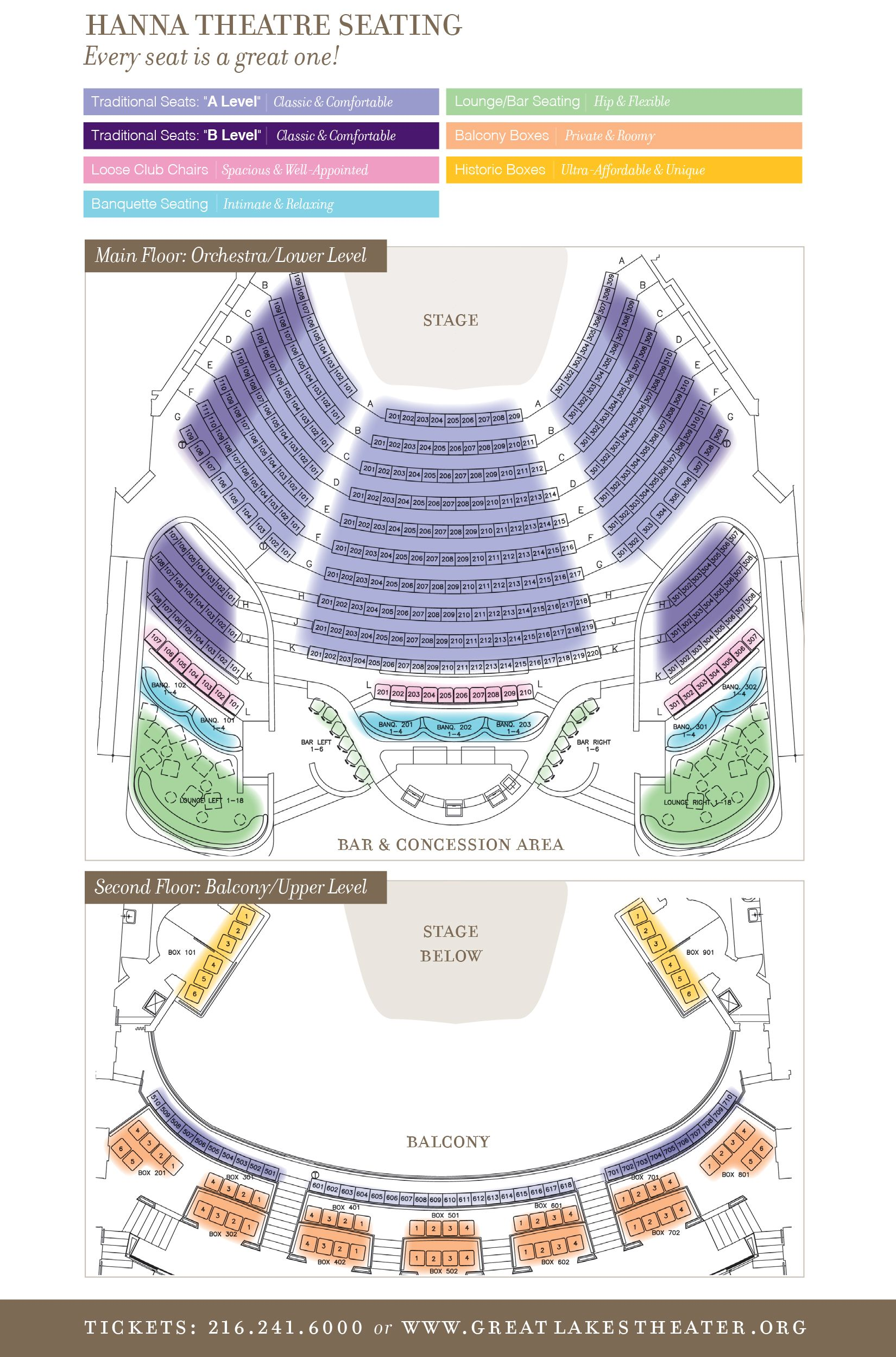 Plan Your Visit Venues And Seating Charts Great Lakes Theater Seating Charts Theater Seating Playhouse Square