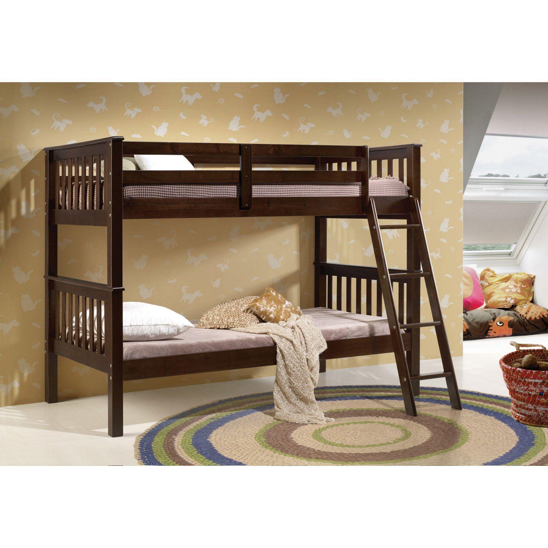 Acme furniture searra twin over twin bunk bed espresso a