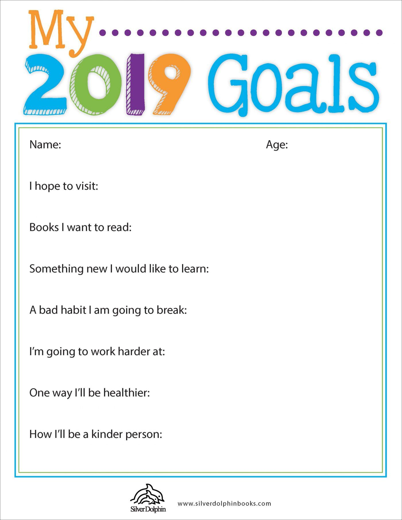 2019 Goals Downloadable Reading Worksheets Goals Worksheet Kindergarten Worksheets [ 1812 x 1400 Pixel ]