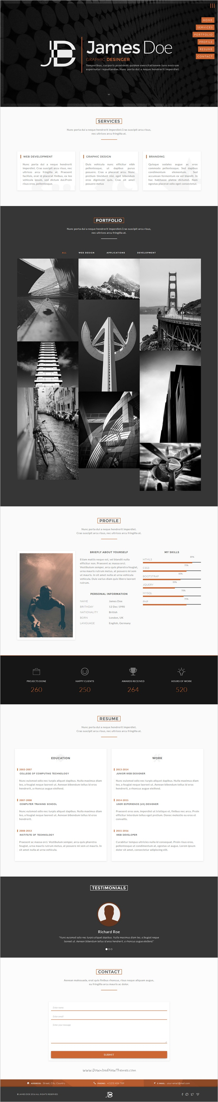 Faber is a wonderful onepage responsive #HTML #Bootstrap template ...