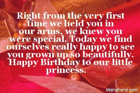 Birthday Message For Daughter Princess Wishes