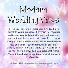 Modern Wedding Marriage Vows