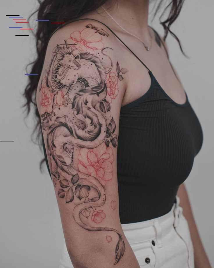Tritoan Ly On Instagram Haku From Spirited Away This Was So Much Fun Haku Studioghibli In 2020 Tattoos Body Art Tattoos Dragon Tattoo Arm