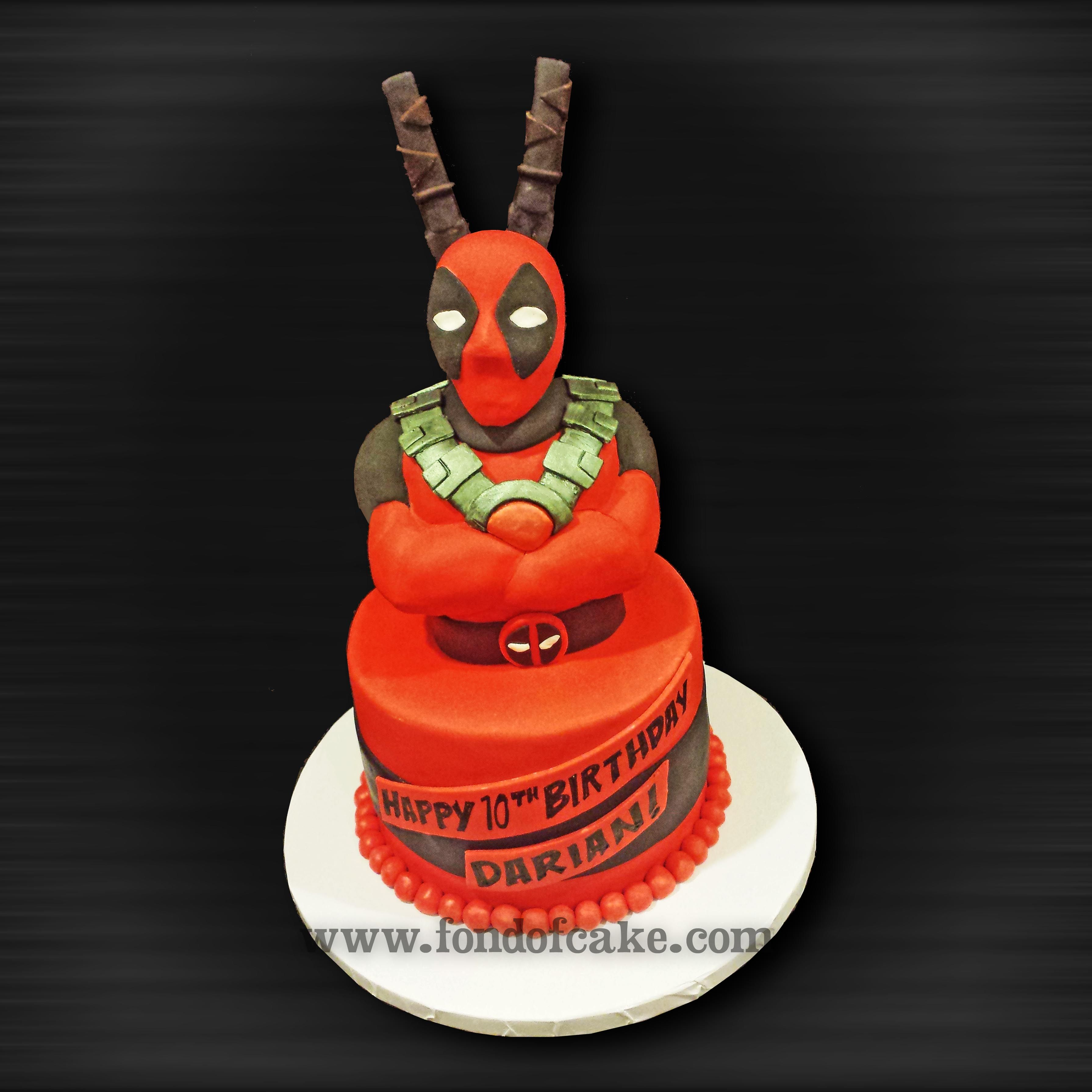 Deadpool Cake Deadpool Cake Birthday Cakes With Images