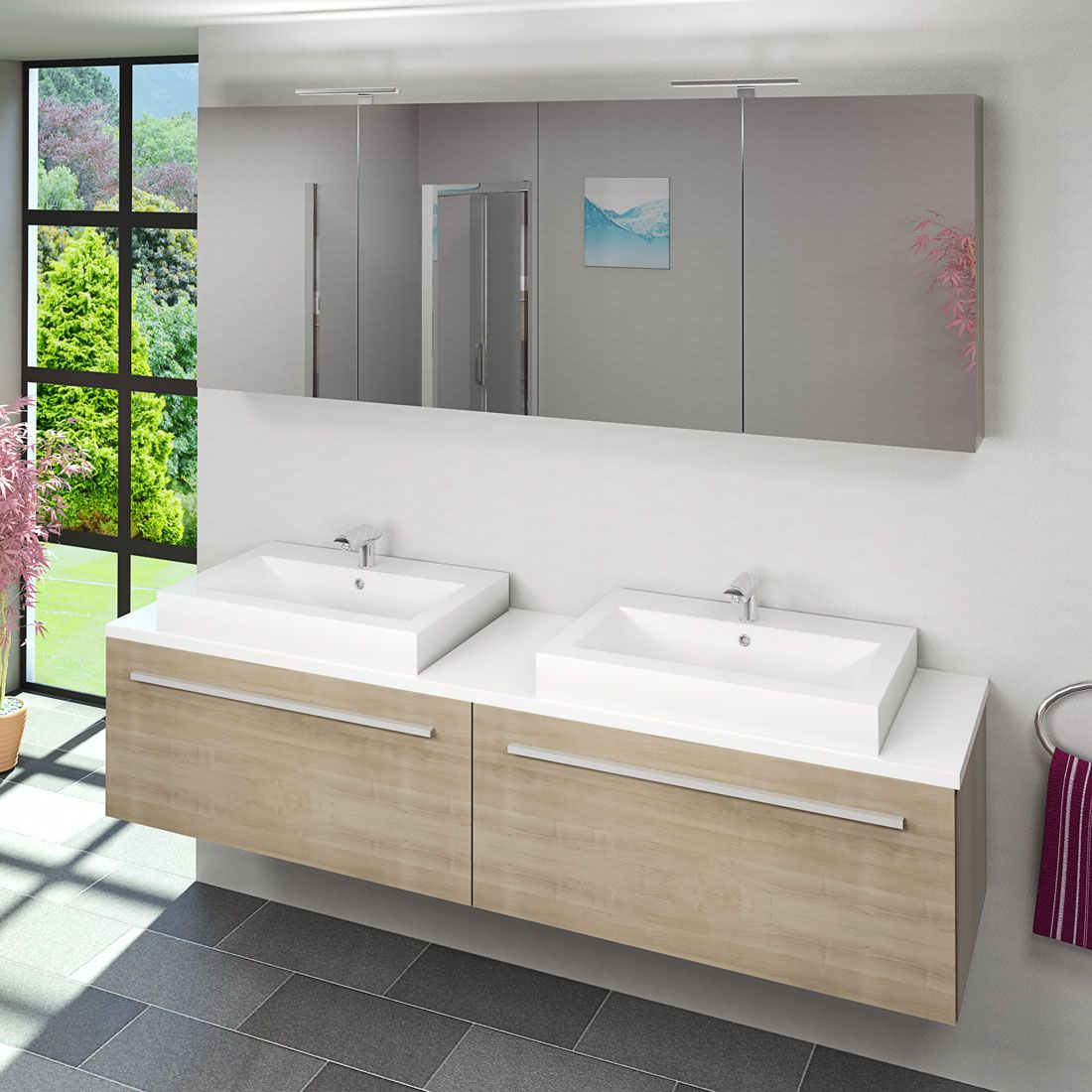 Tolle badezimmer unterschrank doppelwaschbecken  Badezimmer