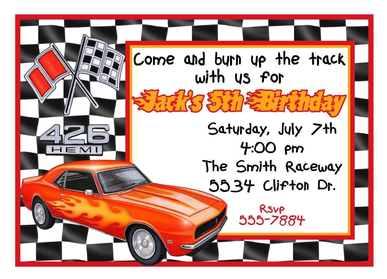 Race Car Invitation Template | car bday party | Pinterest | Cars ...