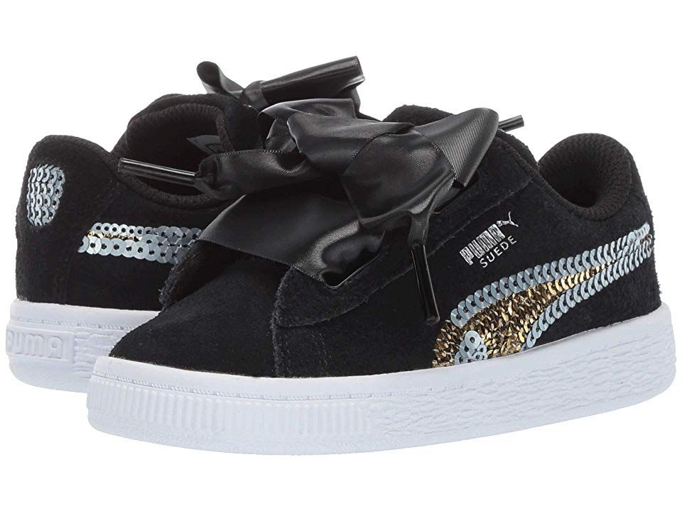 Puma Kids Suede Heart Trailblazer Sequins (Toddler) Girl's