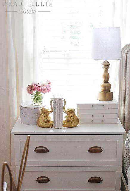 Dear Lillie Lillie S Room With A New Chandelier Dear Lillie Pink Girl Room Dresser As Nightstand Lillie room with new chandelier