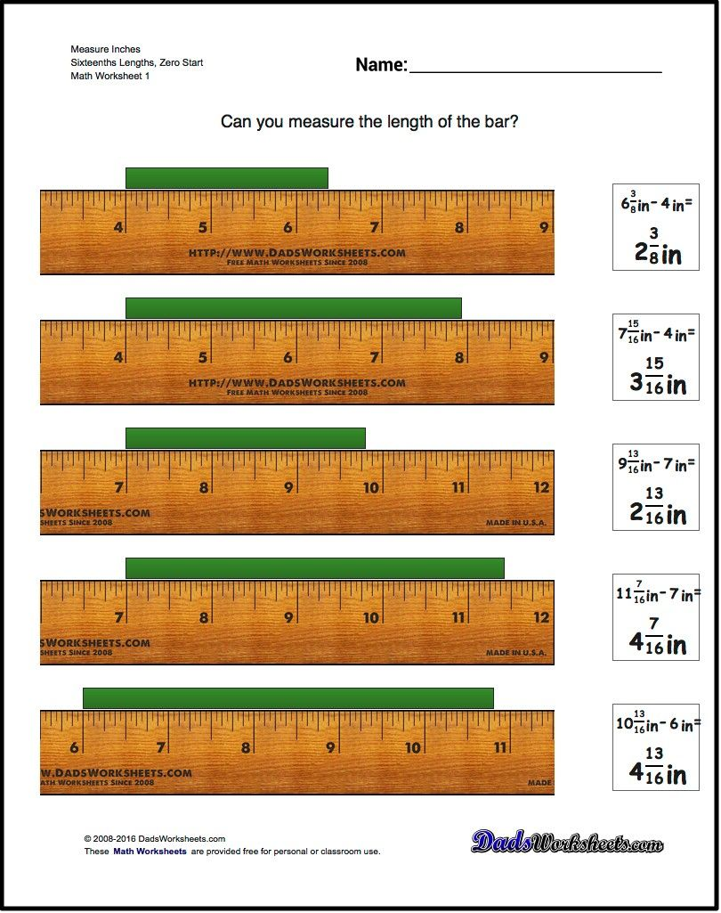Inches Measurement For Measure Inches Sixteenths Lengths Zero Start Measurement Worksheets Reading A Ruler Graphing Linear Equations [ 1025 x 810 Pixel ]