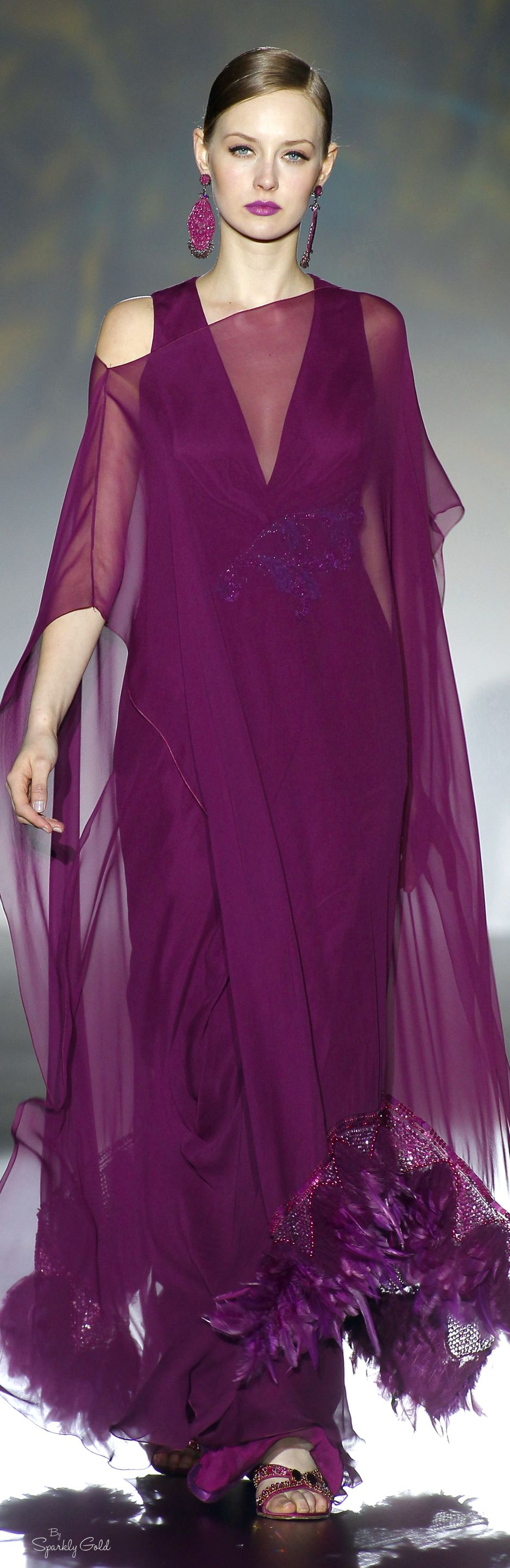 Patricia avendaño gorgeous plum gown is light as a feather