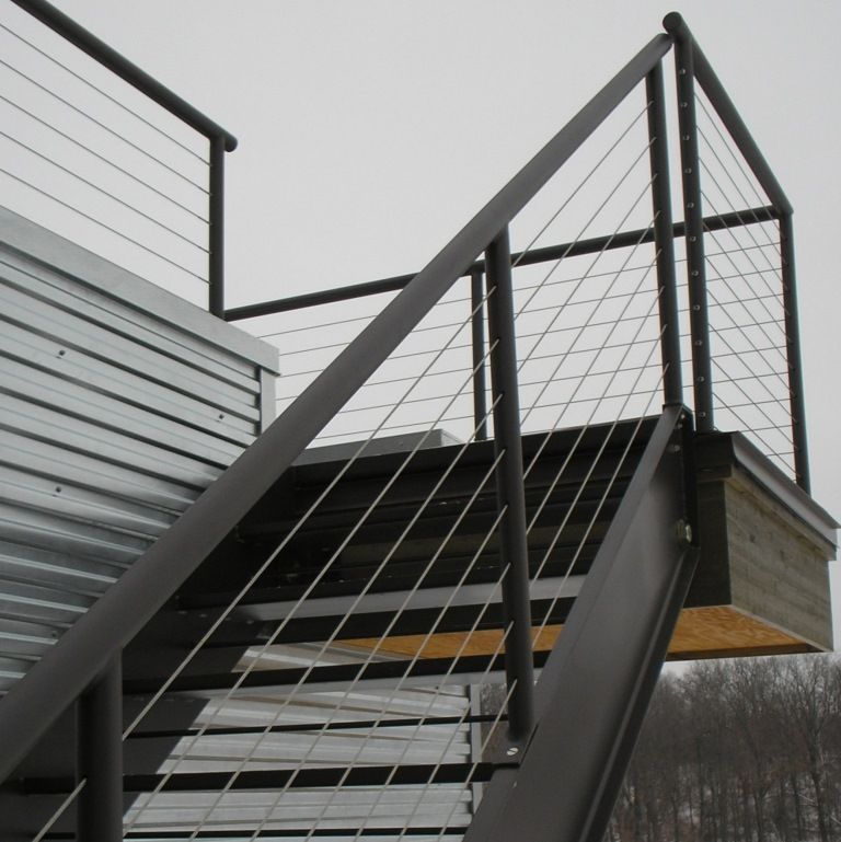 Best Black And Cable Stair Railing Google Search Exterior 640 x 480