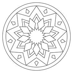 free printable mandala coloring pages - Simple Therapeutic Coloring Pages