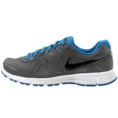 Nike Revolution 2 Mens 554953-037 Dark Grey Blue Athletic Running Shoes Size  8.5