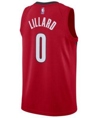 689cc53c8 Nike Men s Damian Lillard Portland Trail Blazers Earned Edition Swingman  Jersey - Red 3XL