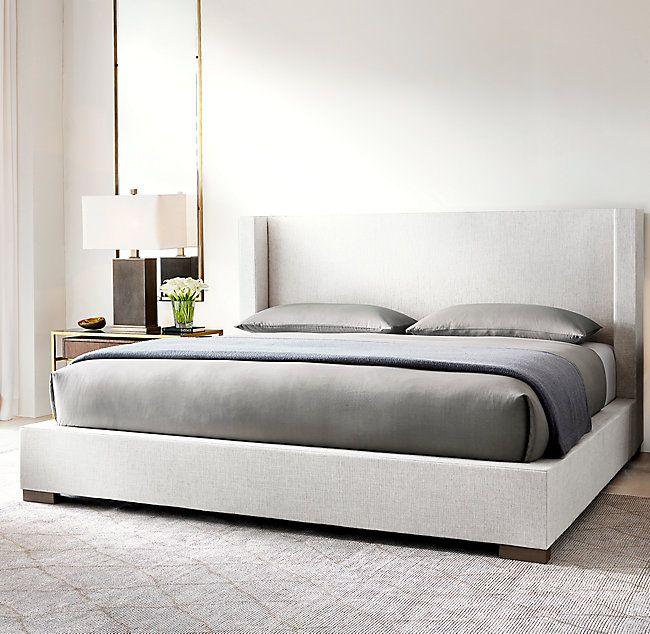 Best Modena Shelter Nontufted Fabric Platform Bed Luxurious 400 x 300