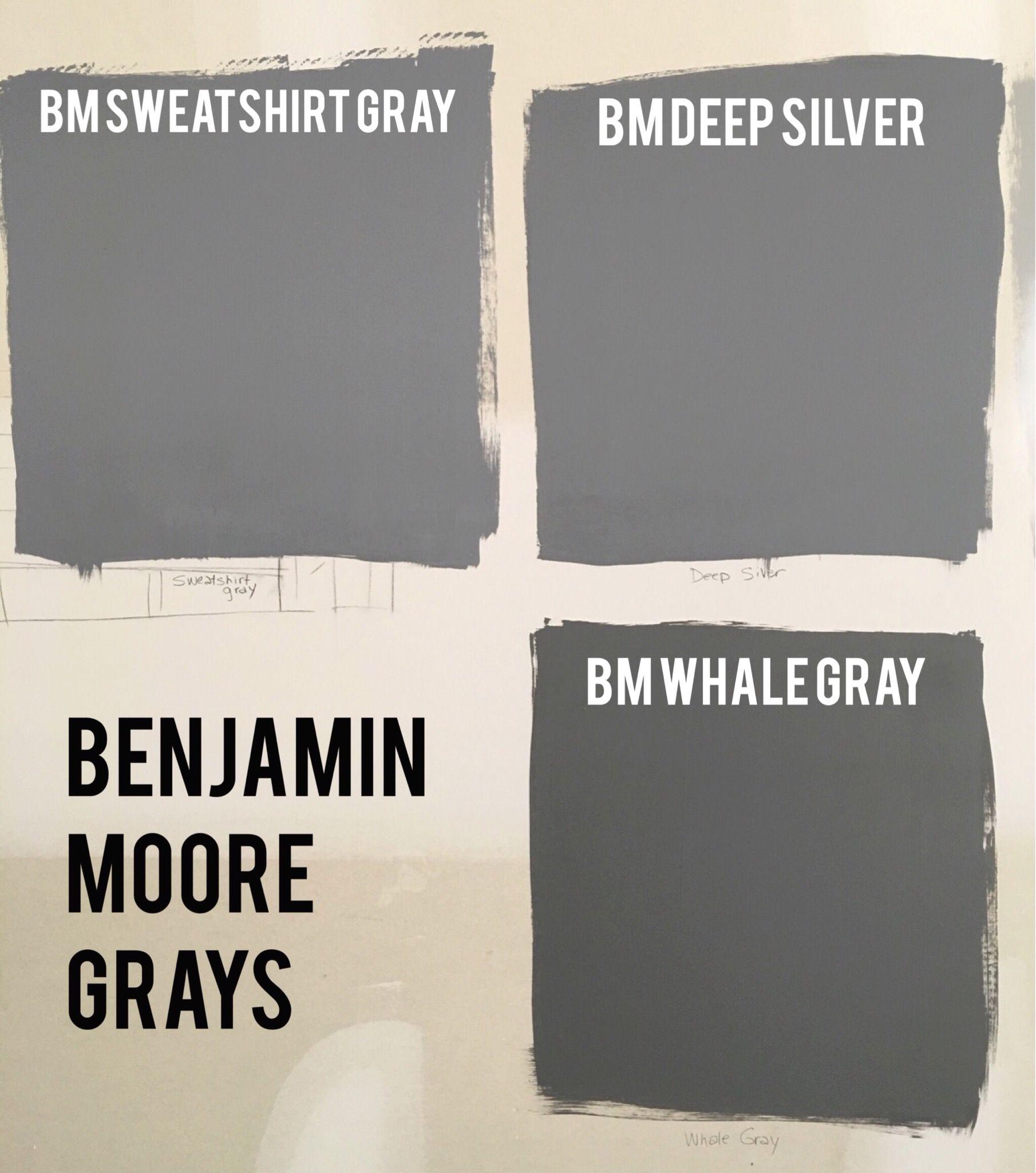 Benjamin Moore Deep Gray Paint Swatches Bm Sweatshirt Gray 2126