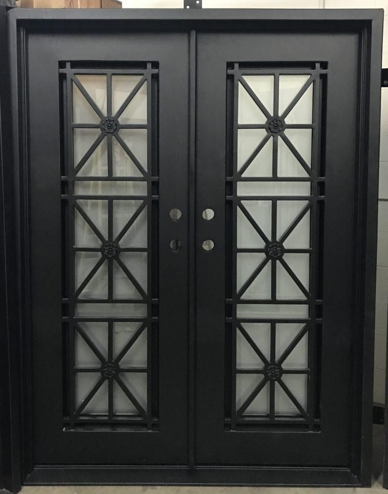 Double Iron Doors Designer And Custom Iron Doors Iron Doors Iron Door Design Wrought Iron Doors